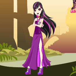 Raven Queen öltöztetős Ever After high játék