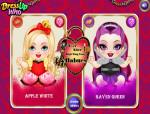 Apple White és Raven Queen bébi Ever after high játék